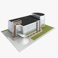 sport school building 3d max