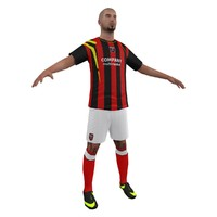 3d model soccer player 1