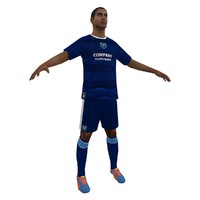 3d soccer player 6 model
