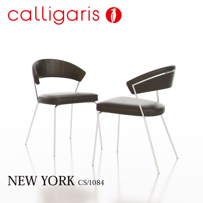 3d calligaris new york metal chair for Calligaris new york