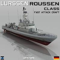 lurssen fast attack missile obj