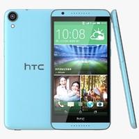 htc desire 820 sky blue 3d model