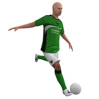 3d rigged soccer player