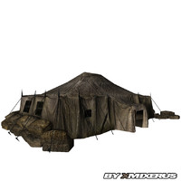 3d model of army tent