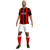 3d model of rigged soccer player 1