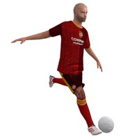 3d model rigged soccer player