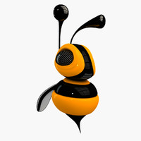 smooth bee 3d model