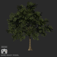Low poly tree 02