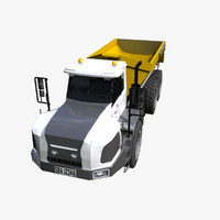 3d model articulated hauler ta-230