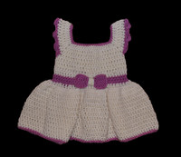 knitted baby dress