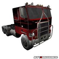 red truck 3d model