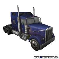3d model blue truck