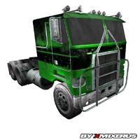 3d model green truck