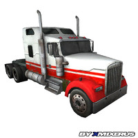 3d max red truck