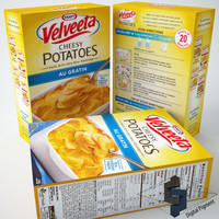 3d model velveeta cheesy potatoes bacon