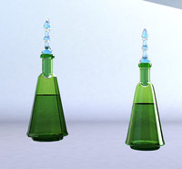 3d colored perfume bottle model