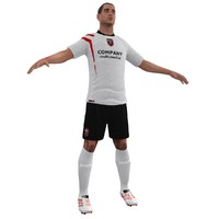 3d model soccer player 2