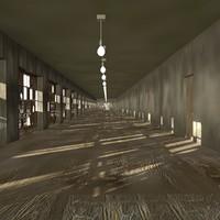 3d model corridor ready