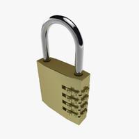 padlock lock 3d model