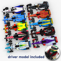 3dsmax 2014 formula e race cars