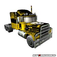 3dsmax yellow truck