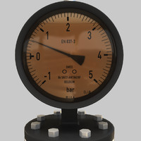 3d manometer model