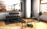 home gym weights 3d obj