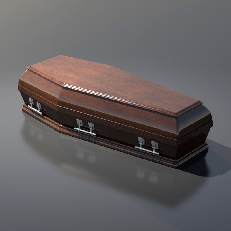 how to draw a 3d coffin