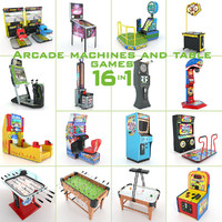 3d arcade machines table games model