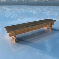 3ds max medieval bench
