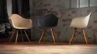 3d vitra eames plastic armchair