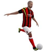 rigged soccer player 1 3d