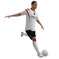 3ds max rigged soccer player 2