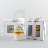 3d model cupcake gift box