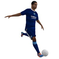 rigged soccer player 6 3d