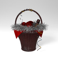 christmas basket 3d 3ds