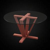 3ds max calligaris astro dining table