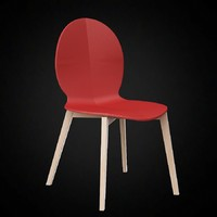 calligaris basil dining chair 3d model