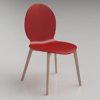 calligaris basil dining chair 3d 3ds