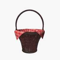 wicker basket napkin 3d 3ds