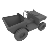 3d tipper base mesh uv-unwrapped model