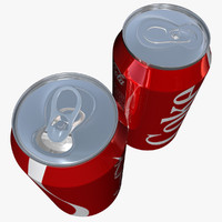 3d model open coke cans
