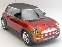 mini cooper new studio 3d max