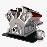 3d model coffee machine v12 titanium
