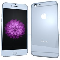 3d model apple iphone 6 silver