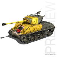 3d m4a3e8 sherman - tank