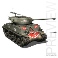 m4a3e8 sherman - rice's 3d 3ds