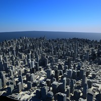 cityscape scene highrise 3d max