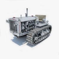 stalinets s-65 soviet tractor 3d model