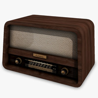 3d model of retro radio